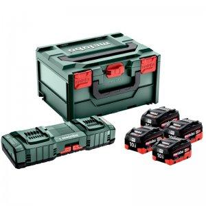 Základní set 18V/4x10,0 Ah,ASC145DUO, metaBox Metabo 685143000