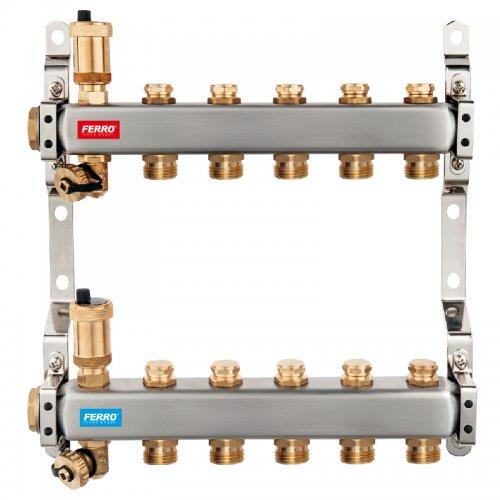Rozdělovač nerez s regulačními mechanickými ventily 11 okruhů Novaservis SN-ROU11S