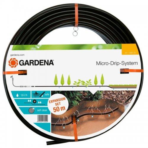 Podzemní kapací hadice mds, kapková závlaha pro rostliny v řádcích Gardena 13,7 mm, 50 m - rozšiřovací sada 1395-20
