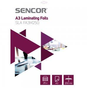 Laminovací fólie A3 250mic 25ks SENCOR SLA FA3M250