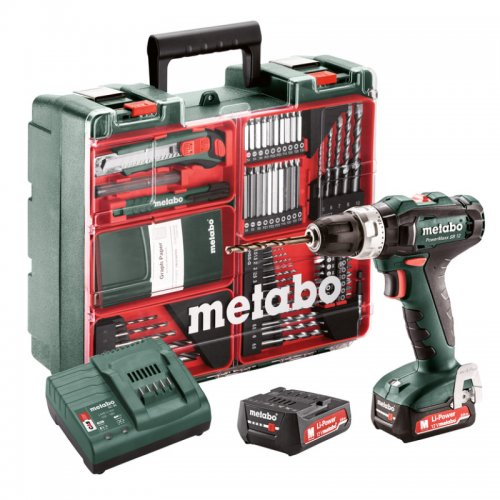 Aku příklepová vrtačka 2x2,0Ah Metabo PowerMaxxSB12 MD 601076870