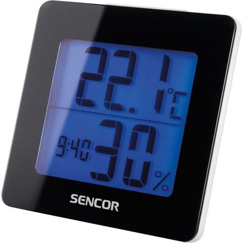 Teploměr s hodinami SENCOR SWS 1500 B