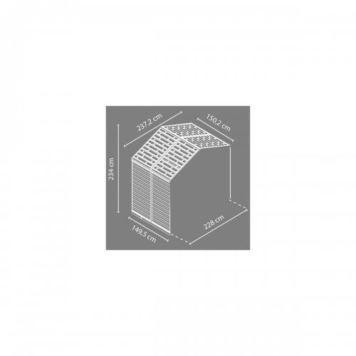 Rozšiřovací modul 8x4 Palram pro domky série Skylight 8 (hnědý)