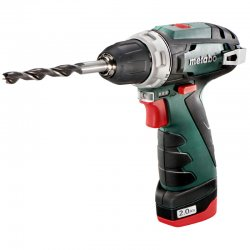 Aku vrtačka 2x2,0Ah Metabo PowerMaxx BS Basic 600080500