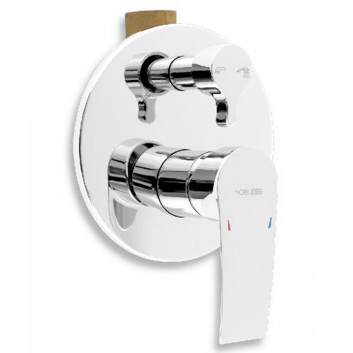 Vanová sprchová baterie s přepínačem Nobless Heda chrom Novaservis 40050R,0