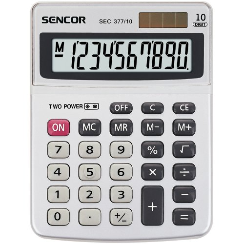 Stolní kalkulačka SENCOR SEC 377/ 10 DUAL