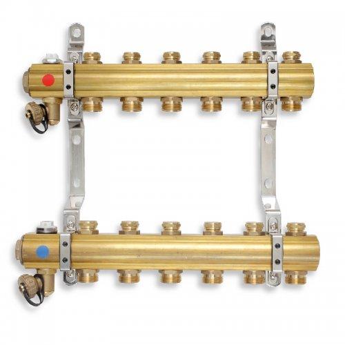 Rozdělovač s regulačními a mechanickými ventily 10 okruhů Novaservis RO10S