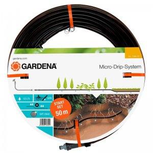 Podzemní kapací hadice mds, kapková závlaha pro rostliny v řádcích Gardena 13,7 mm, 50 m - startovací sada 1389-20