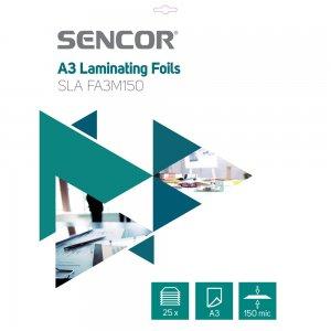 Laminovací fólie A3 150mic 25ks SENCOR SLA FA3M150