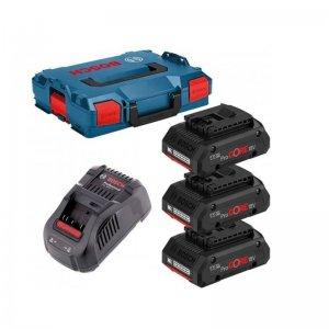 Aku sada Bosch 3× aku ProCORE18V 4,0Ah + GAL 1880 CV L-BOXX 0615990L1R