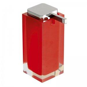Dávkovač mýdla na postavení, červená Gedy RAINBOW RA8006