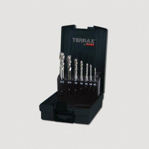 Sada jednorázových závitníků typ B HSS-CO 7dílů Terrax RUKO RUA245057ETX