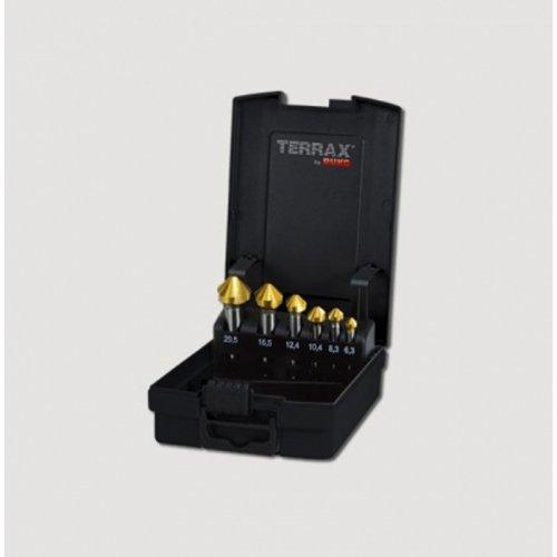 Sada 6dílů záhlubníků do kovu HSS-Tin Terrax RUKO RUA102152TRO