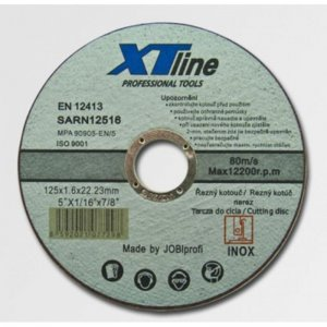 Kotouč řezný na nerez 115x1,0x22 XTline SARN11510