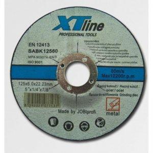 Kotouč brusný na ocel 125x6,0x22,2 XTline SABK12560