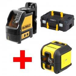 Samonivelační křížový laser DeWALT DW088CG + křížový laser Cubix + kufr