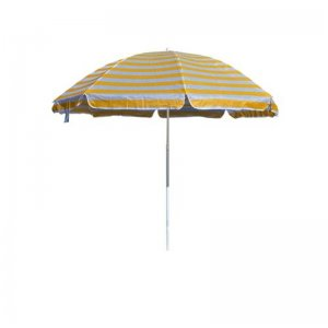 Slunečník plážový 230 cm HAPPY GREEN, žluté pruhy A09319