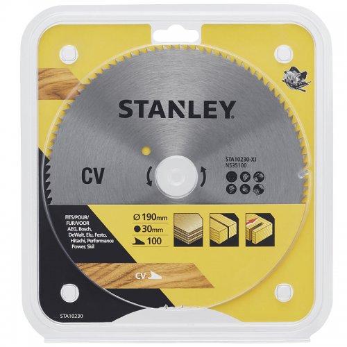 Pilový kotouč pro příčné řezy 190 x 30 mm, 100 zubů Stanley STA10230
