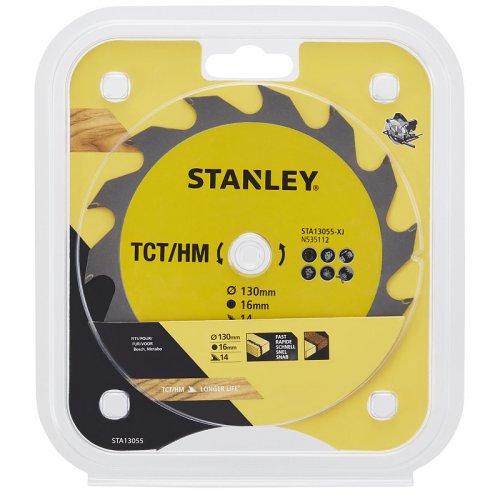 Pilový kotouč TCT/HM pro podélné řezy 130 x 16 mm, 14 zubů Stanley STA13055