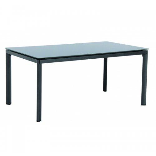 Stůl s hliníkovým rámem a skleněnou deskou Creatop lite Alutapo