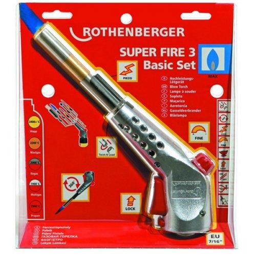 Pájecí hořák ROTHENBERGER SUPER FIRE 3 Basic Set