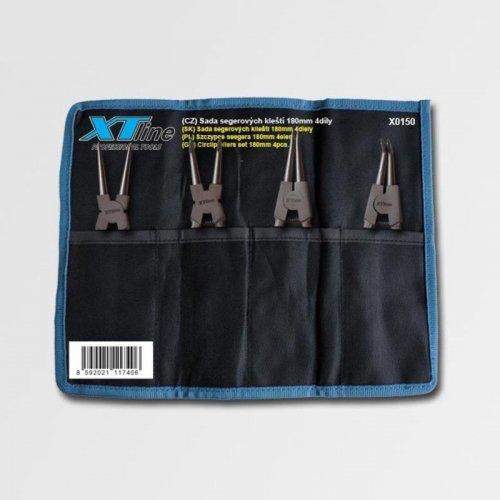 4dílná sada segrových kleští 180mm CrV v textilním obalu XTline X0150
