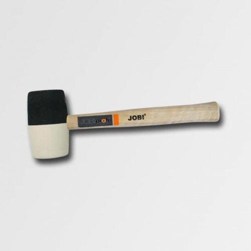 Palička gumová bílá/černá průměr 65mm dřevěná násada 19254