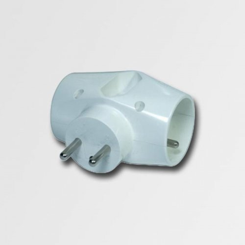 Zásuvková rozbočka 230V, 3 x bílá KL870023