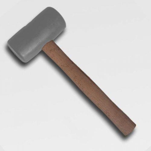Palička gumová šedá průměr 65mm dřevěná násada KLPAS65