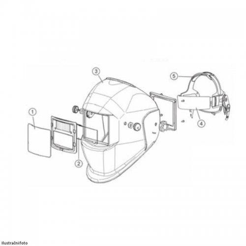 Vnější ochranné sklíčko kukly Varioprotect XL W Schweisskraft 1662020