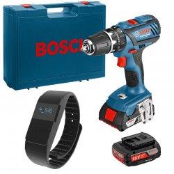 Příklepový vrtací šroubovák 2x2,0Ah Bosch GSB 18-2-LI Plus Professional + fitness náramek