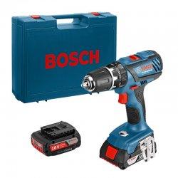 Příklepový vrtací šroubovák 2x2,0Ah Bosch GSB 18-2-LI Plus Professional