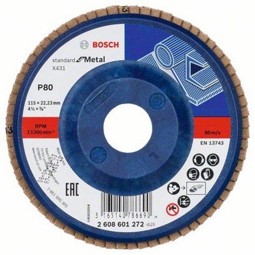 Lamelový brusný kotouč X431 Standard for Metal 125 x 23 mm, 40 Bosch 2608601274