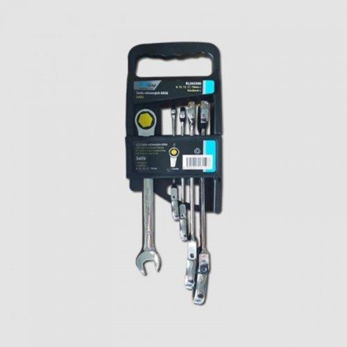 5-ti dílná sada ráčnových kloubových klíčů 8-19mm Xtline KL345500
